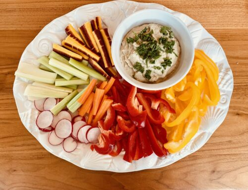Baba Ganoush Vegetable Platter